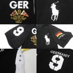 Camisa Polo Preta Alemanha Ralph Lauren - Cod 0233